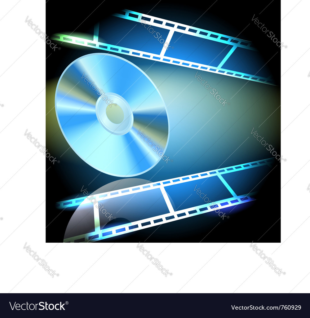 Dvd and filmstrip vector | Price: 1 Credit (USD $1)