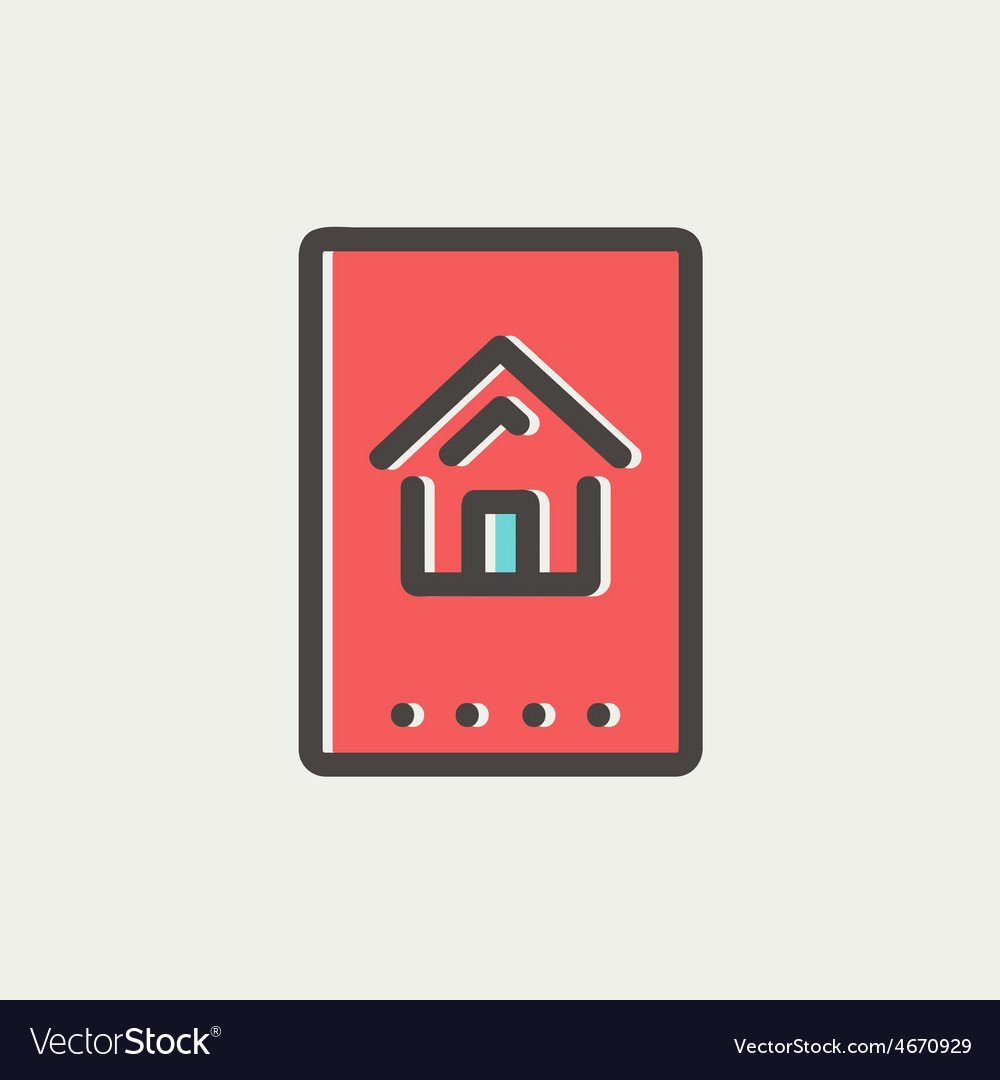 Electronic keycard thin line icon vector | Price: 1 Credit (USD $1)