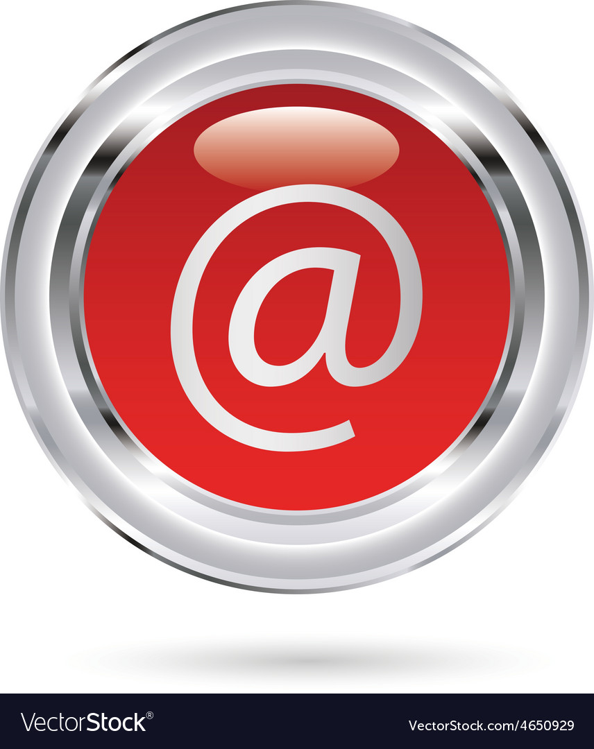 Email red glass resize vector | Price: 1 Credit (USD $1)