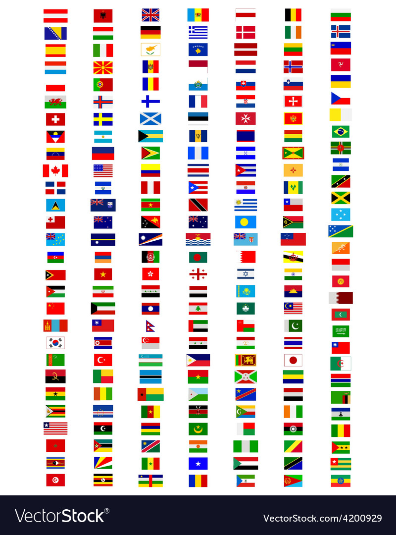 Flags of the world vector   Price: 3 Credit (USD $3)