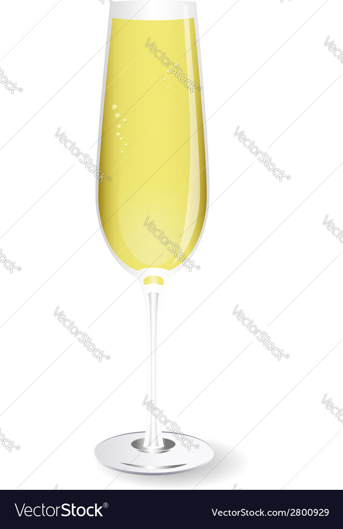 Glass of champagne vector   Price: 1 Credit (USD $1)