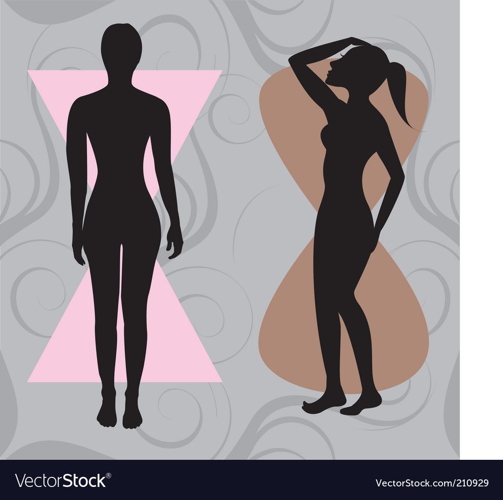 Hour glass body vector | Price: 1 Credit (USD $1)