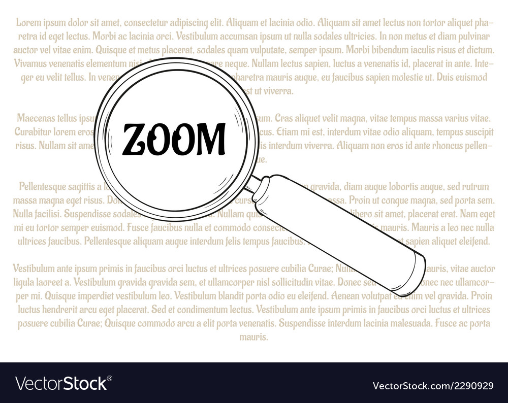 Magnifying glass and zoom vector | Price: 1 Credit (USD $1)