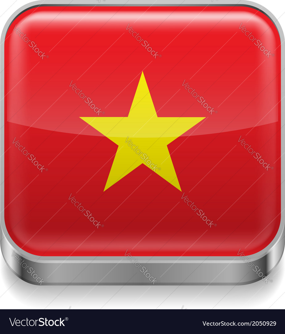 Metal icon of vietnam vector | Price: 1 Credit (USD $1)