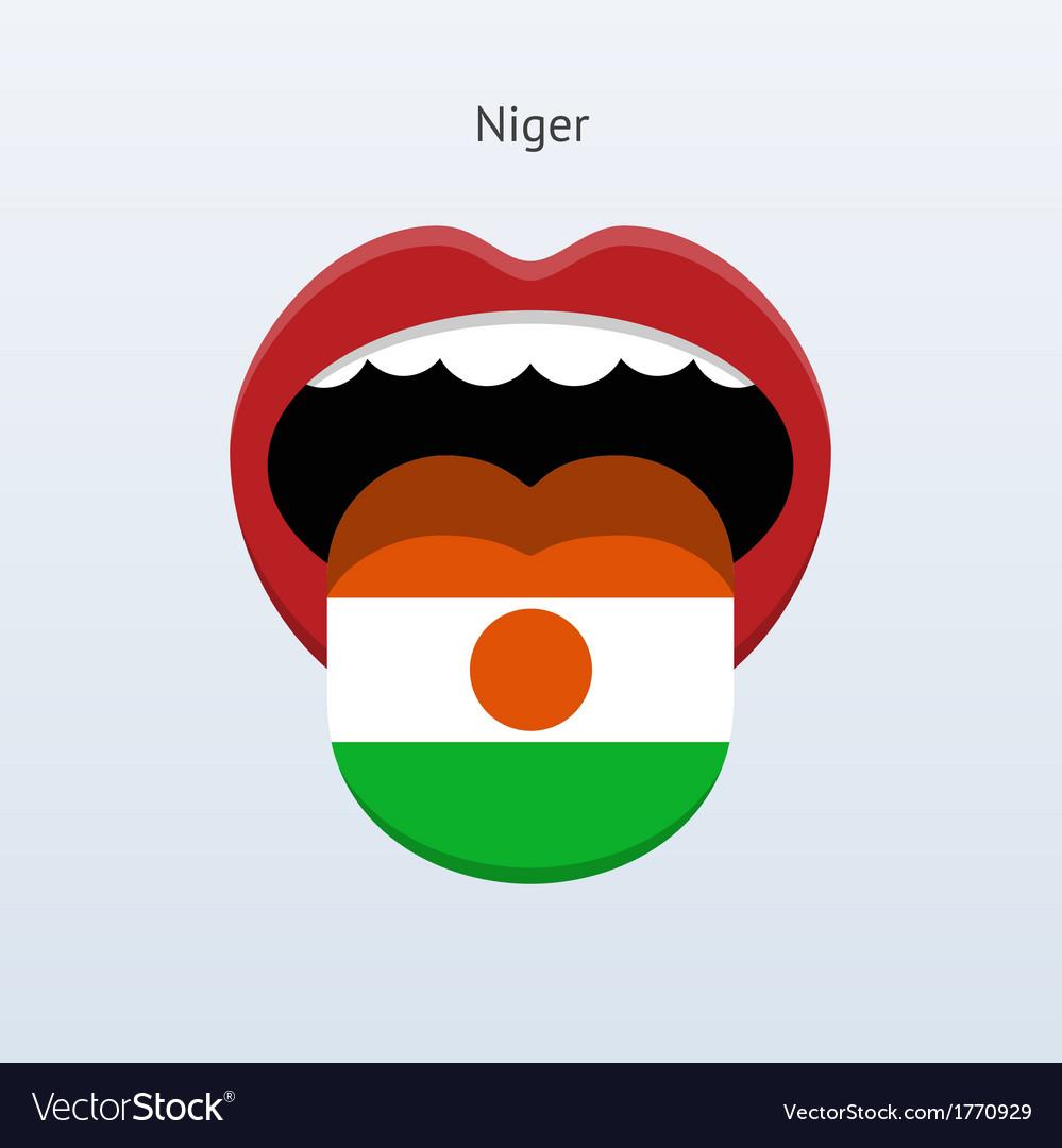 Niger language abstract human tongue vector   Price: 1 Credit (USD $1)