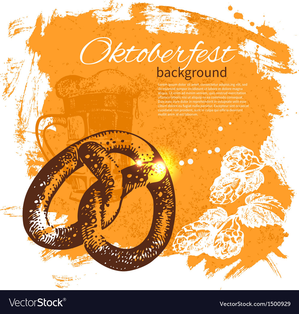Oktoberfest vintage background vector | Price: 1 Credit (USD $1)