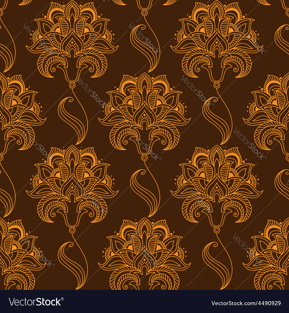 Oriental stylized paisley flourish seamless vector | Price: 1 Credit (USD $1)