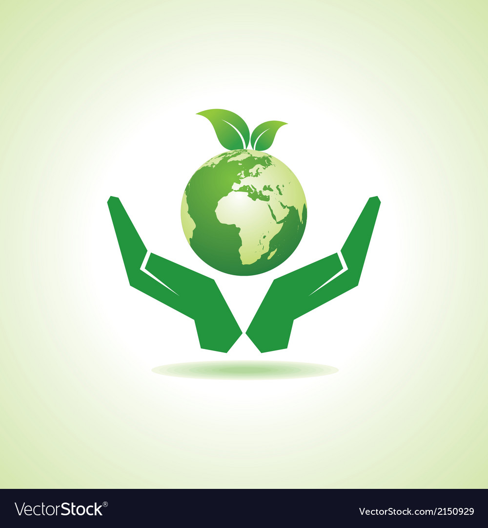Save earth or go green concept vector | Price: 1 Credit (USD $1)