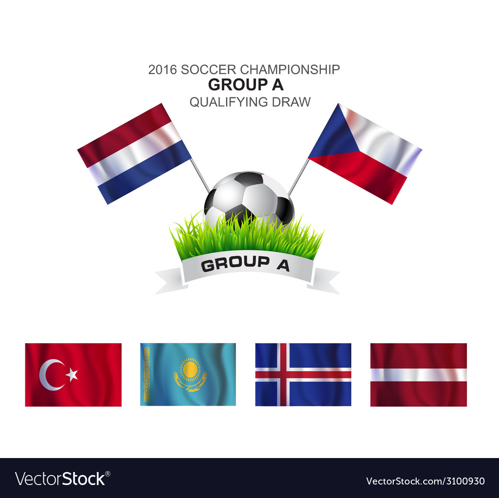 2016 soccer championship group a qualifying draw vector | Price: 1 Credit (USD $1)