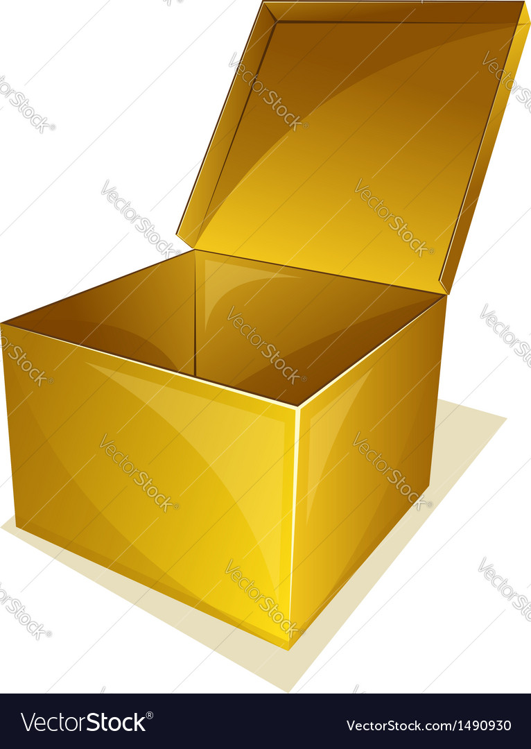 Empty box with open cover vector | Price: 1 Credit (USD $1)