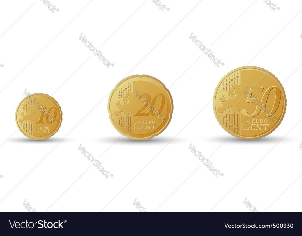 Euro coins vector | Price: 1 Credit (USD $1)