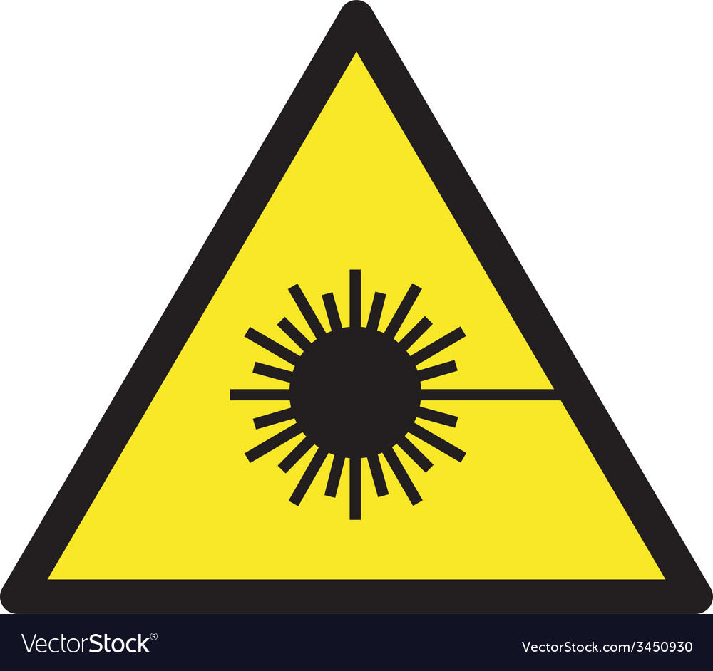 Warning lasers safety sign vector | Price: 1 Credit (USD $1)