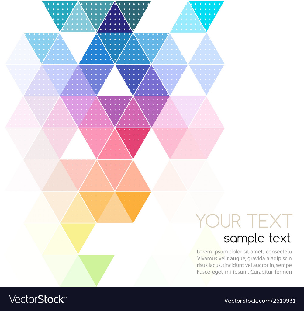 Abstract geometric banner with triangle vector   Price: 1 Credit (USD $1)