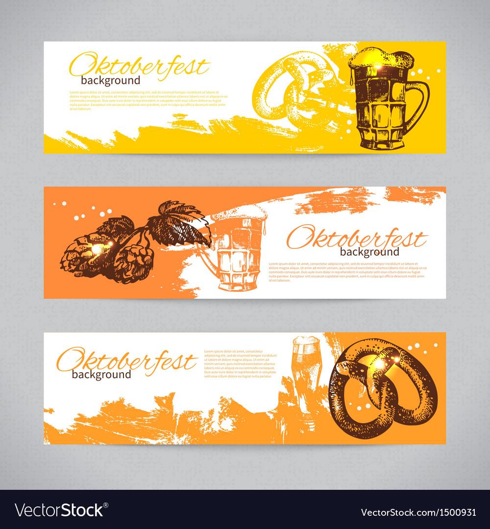 Banners of oktoberfest beer design vector   Price: 1 Credit (USD $1)