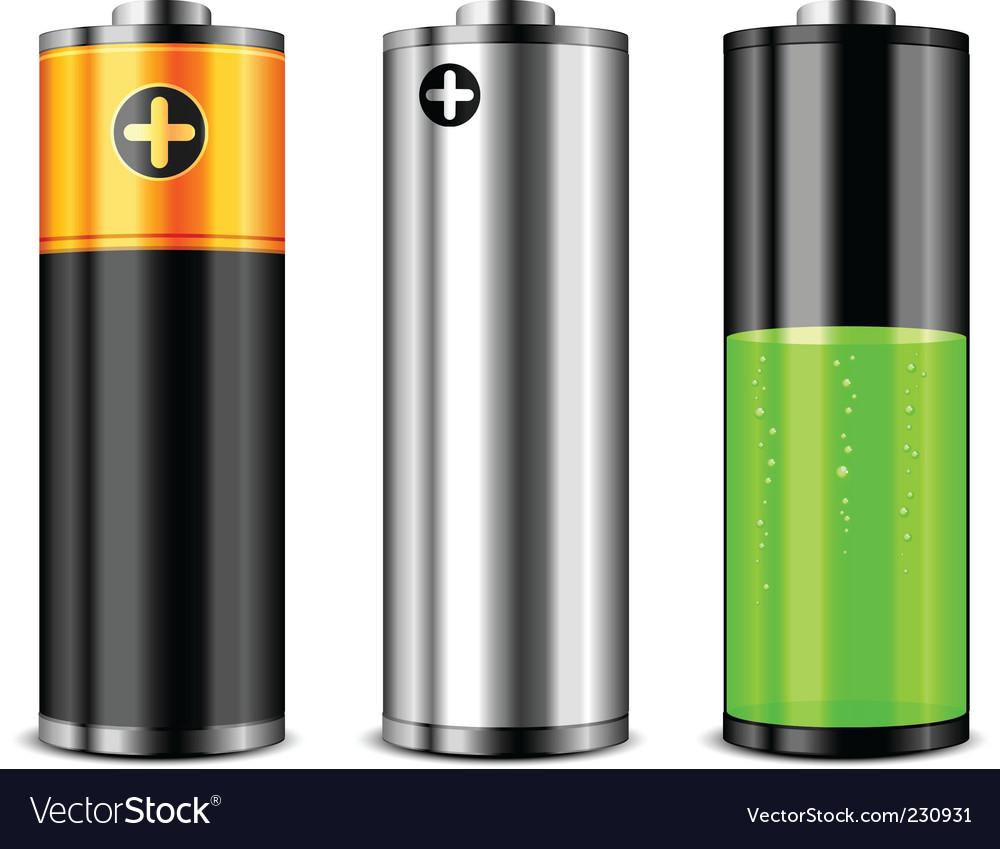 Batteries vector | Price: 3 Credit (USD $3)
