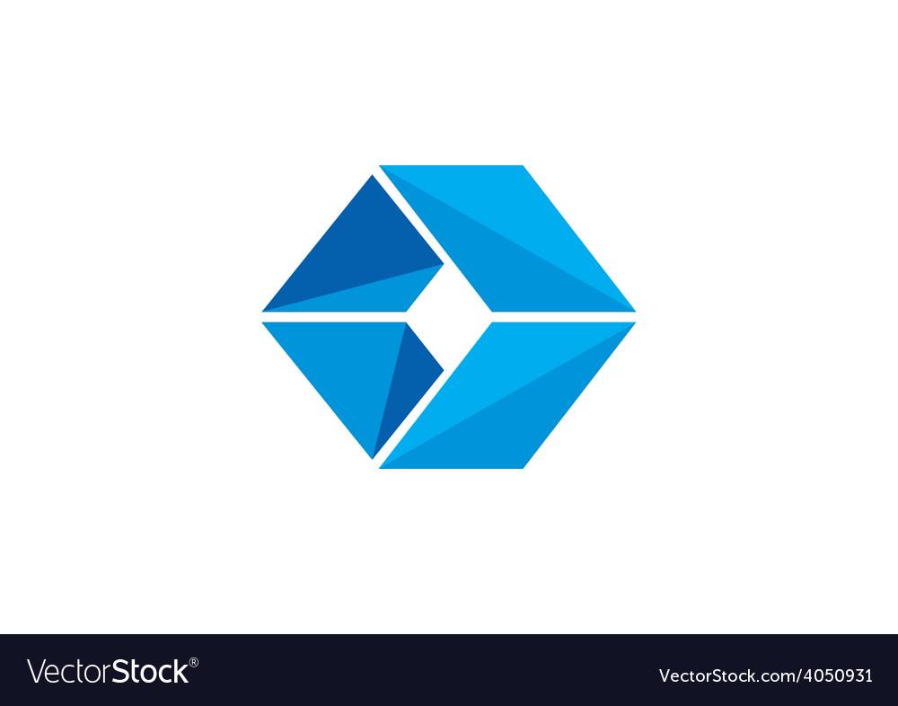 Box cube triangle logo vector