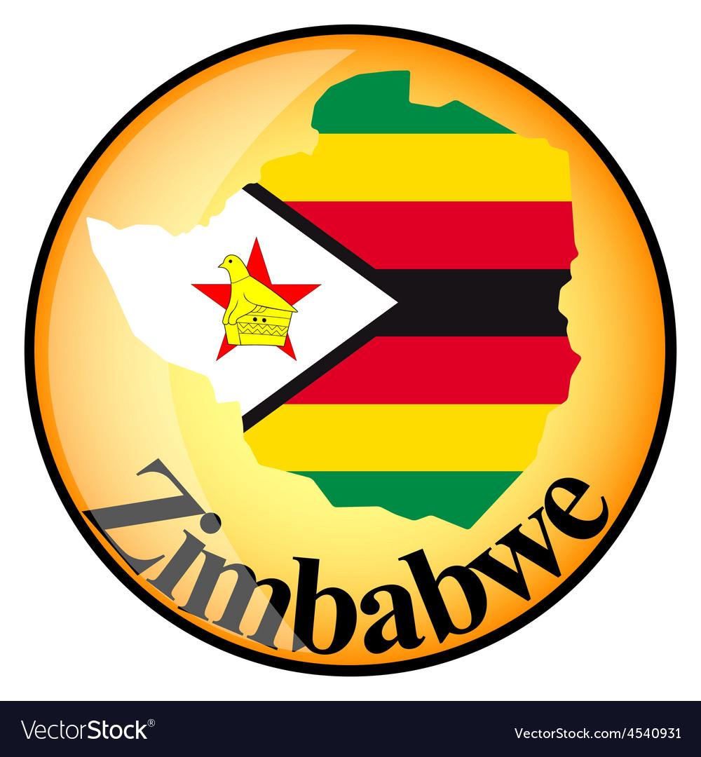 Button zimbabwe vector