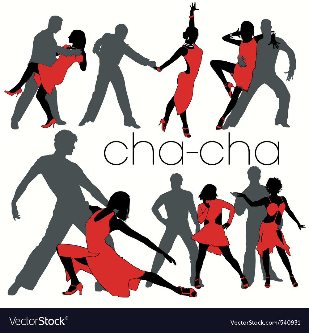 Chacha dancers set vector | Price: 1 Credit (USD $1)