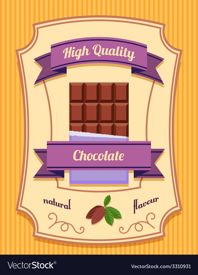 Chocolate bar poster vector | Price: 1 Credit (USD $1)