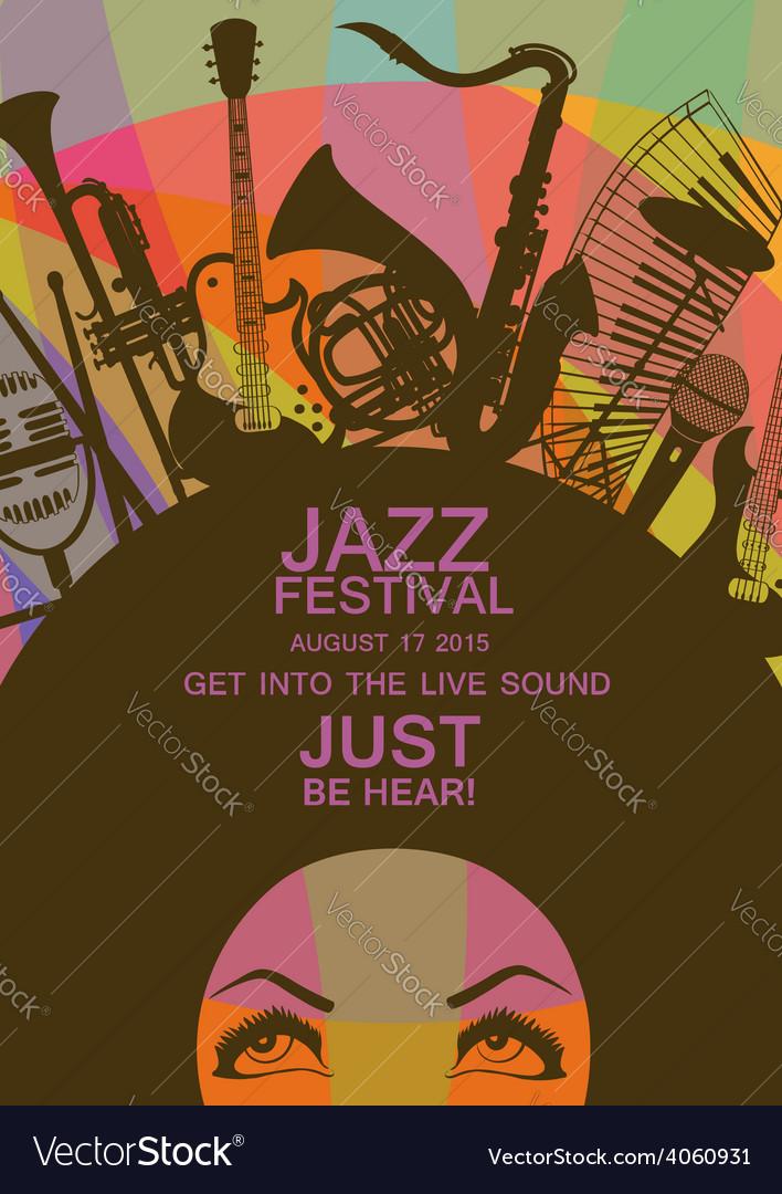 Creative musical invitation vector