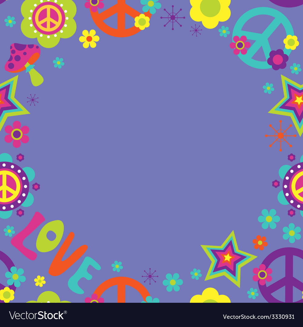 Frame with psychedelic elements vector | Price: 1 Credit (USD $1)