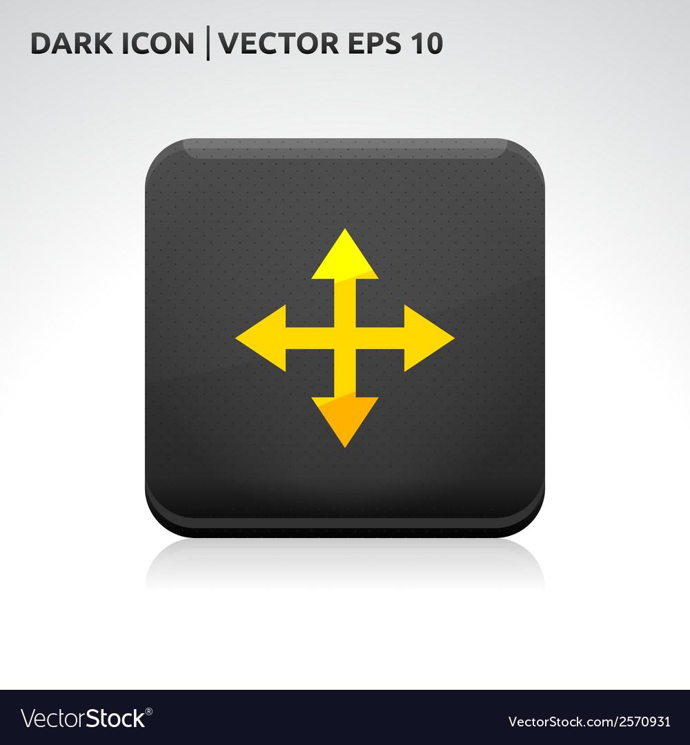 Maximize move arrows icon gold vector   Price: 1 Credit (USD $1)
