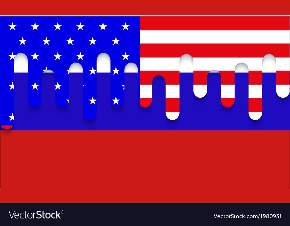 Modern usa and russia flag background vector | Price: 1 Credit (USD $1)