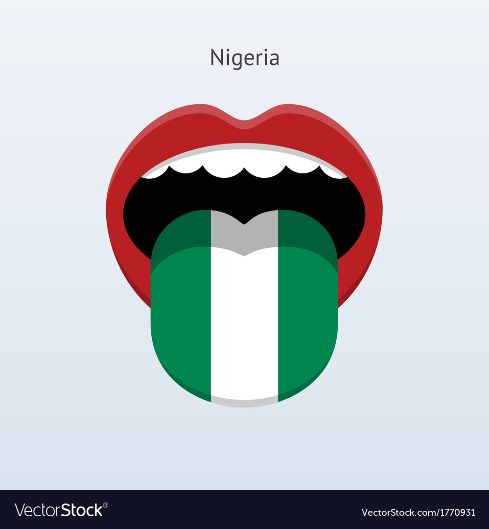 Nigeria language abstract human tongue vector | Price: 1 Credit (USD $1)
