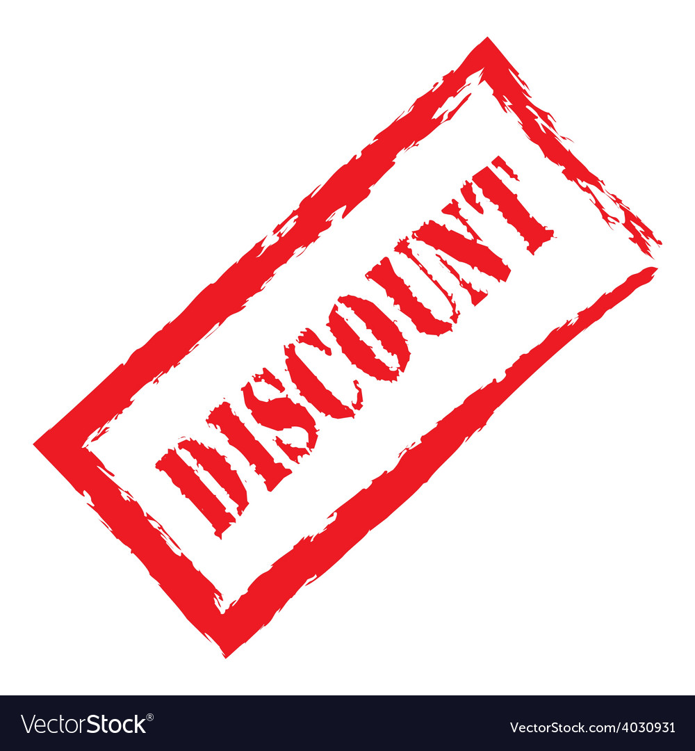 Red stamp discount vector | Price: 1 Credit (USD $1)