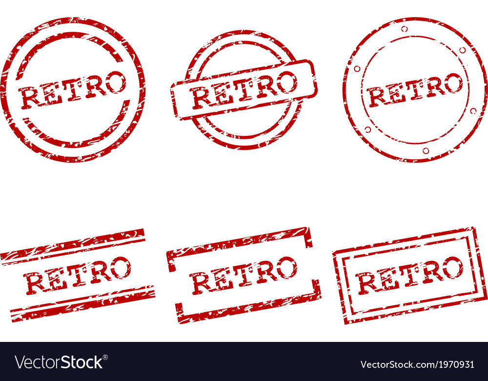 Retro stamps vector | Price: 1 Credit (USD $1)