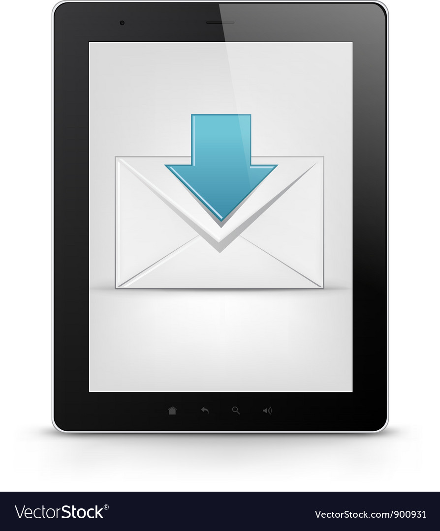 Tablet pc and email vector | Price: 1 Credit (USD $1)