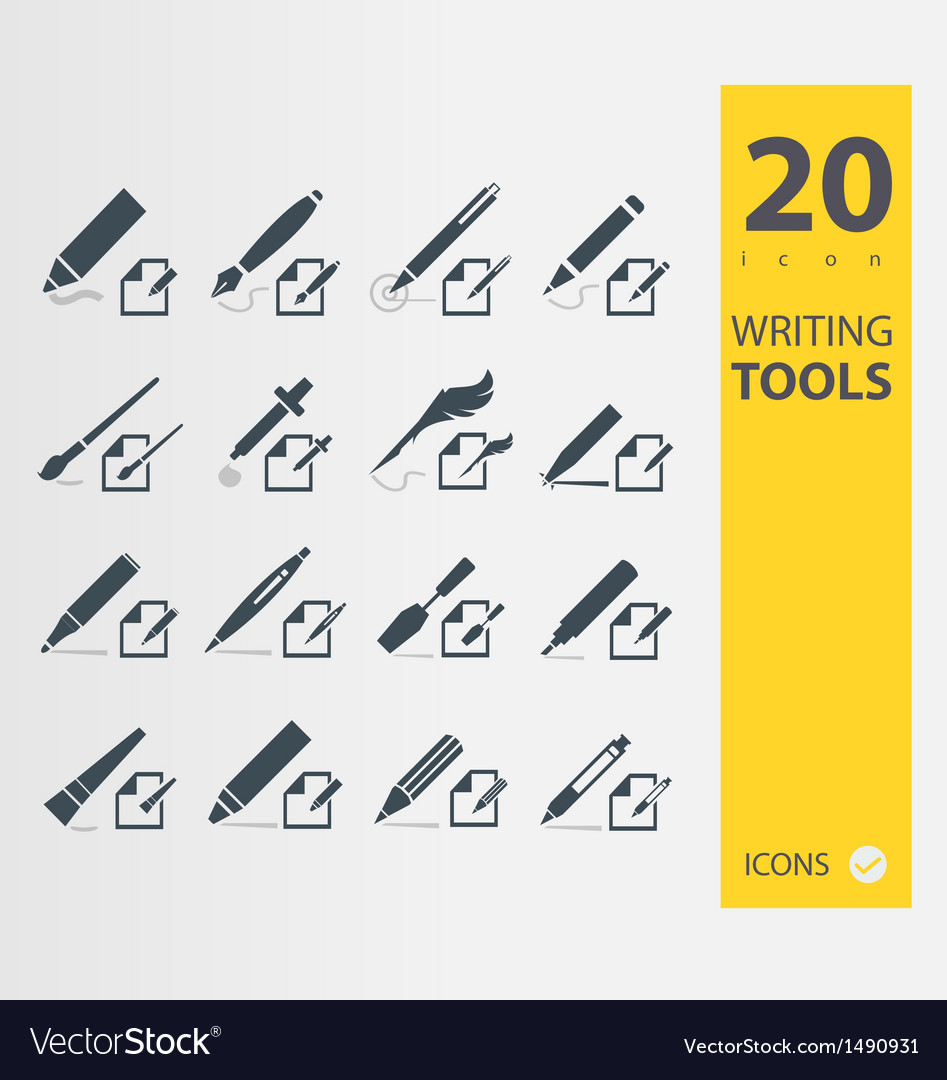 Writing tools vector   Price: 1 Credit (USD $1)