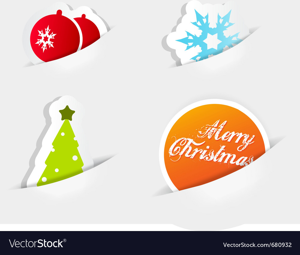 Christmas colored symbols vector | Price: 1 Credit (USD $1)