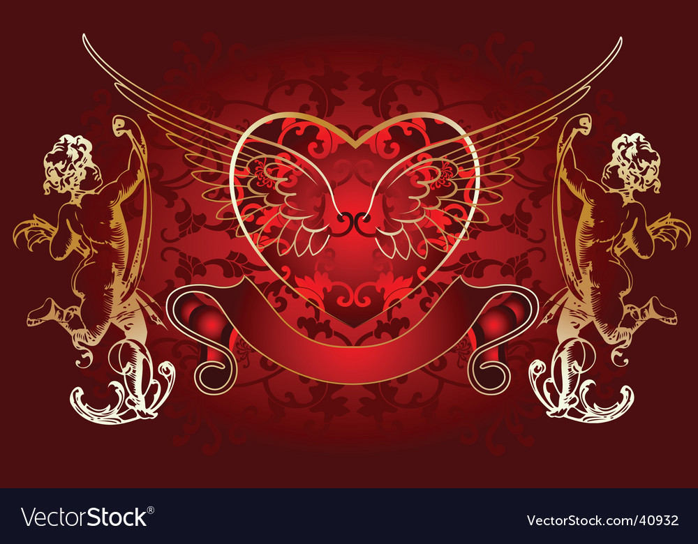 Cupid background vector | Price: 1 Credit (USD $1)