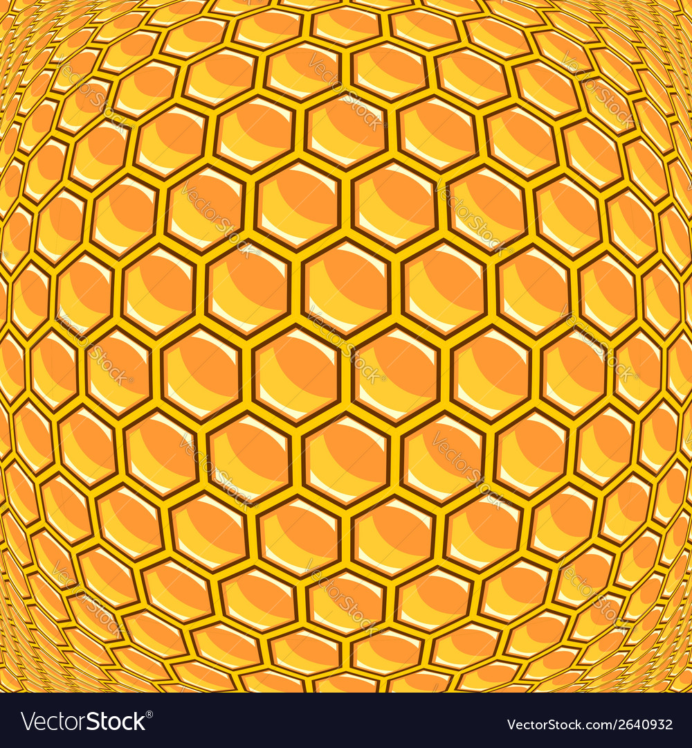 Design warped honeycomb pattern vector | Price: 1 Credit (USD $1)