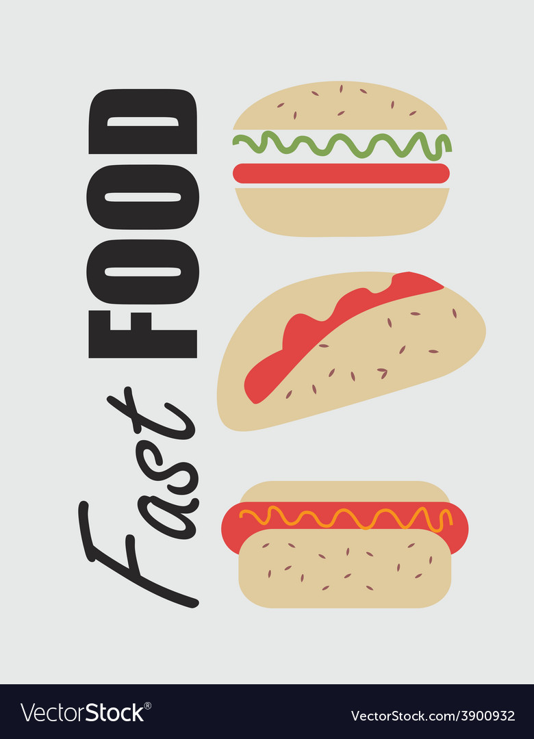 Fast food design over white background vector | Price: 1 Credit (USD $1)