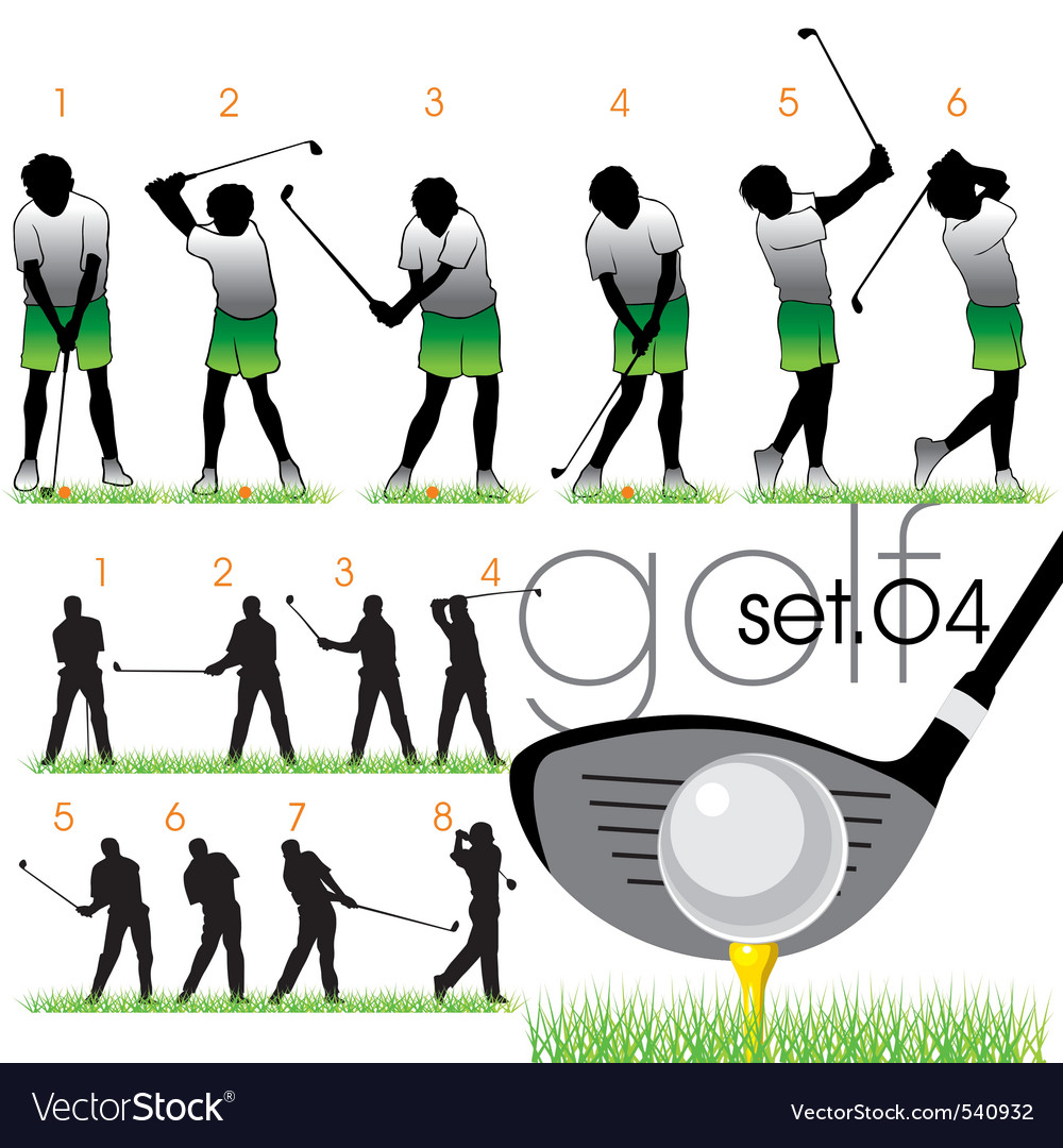 Golf lessons in phases vector | Price: 1 Credit (USD $1)