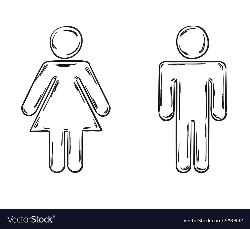 Male and female symbols vector | Price: 1 Credit (USD $1)