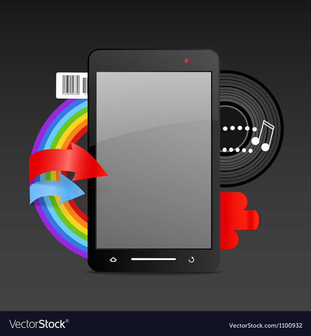 Modern gadget on expressive background vector | Price: 1 Credit (USD $1)