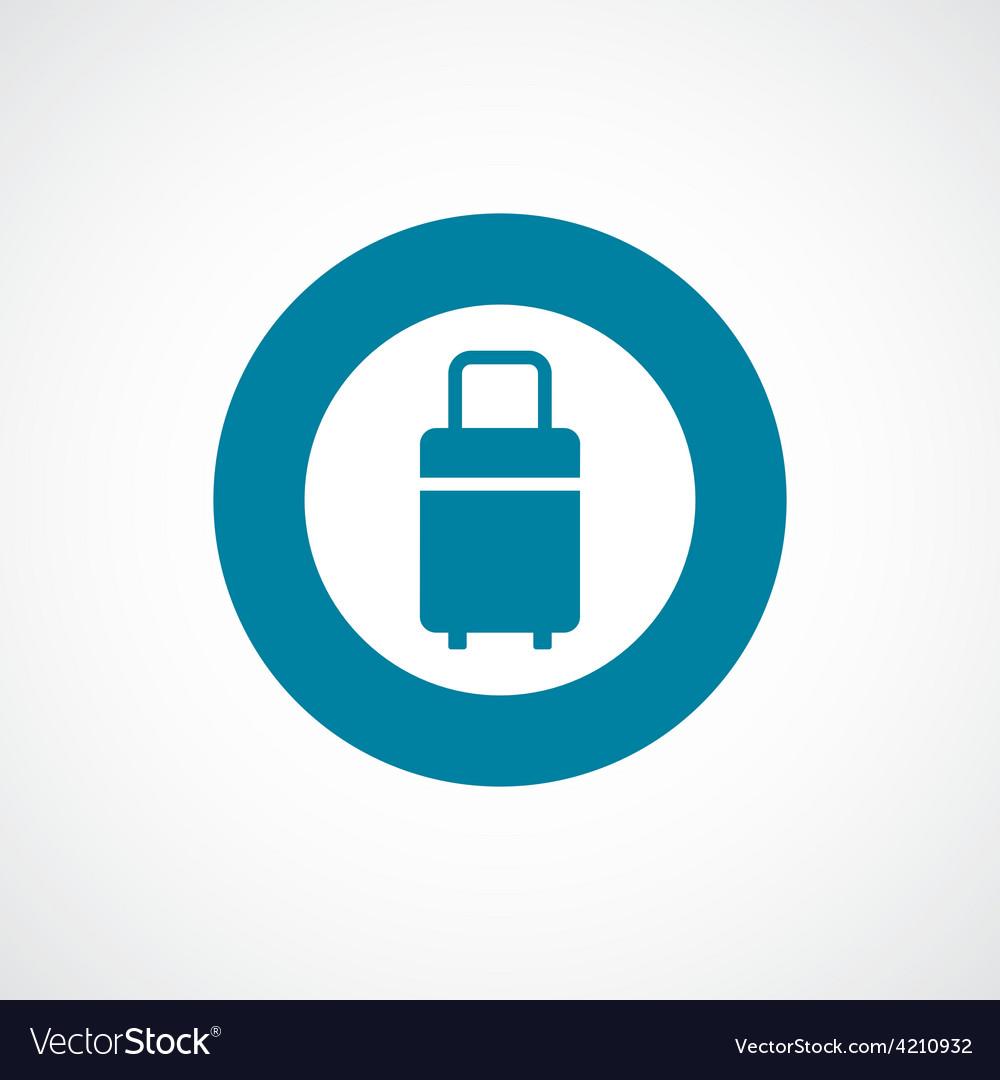 Travel bag icon bold blue circle border vector | Price: 1 Credit (USD $1)