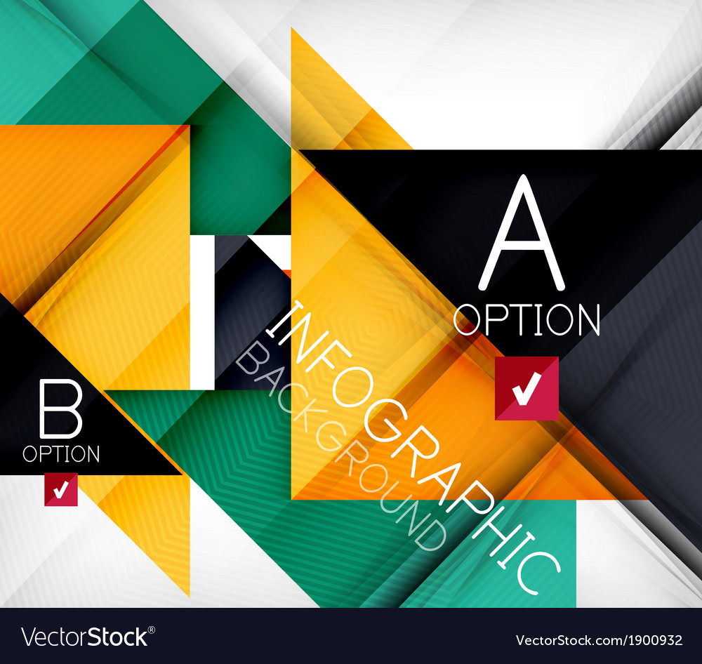 Triangle geometric shape infographic background vector | Price: 1 Credit (USD $1)