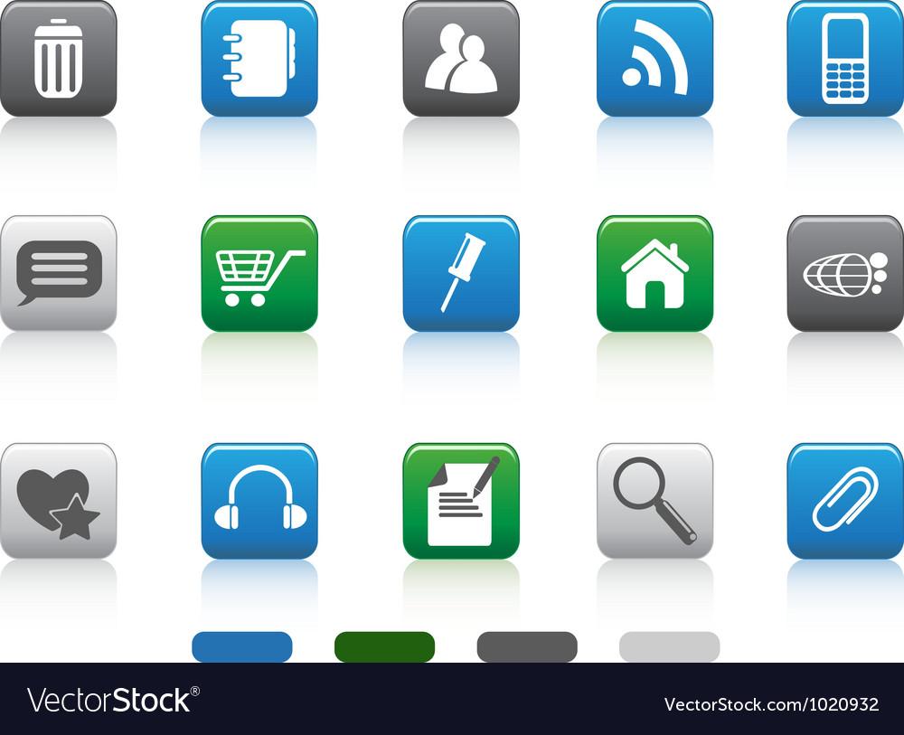 Web icon -color square series vector   Price: 1 Credit (USD $1)