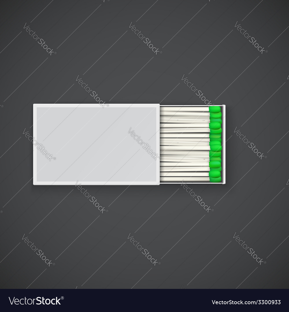 Box of matches with green sulfur vector | Price: 1 Credit (USD $1)