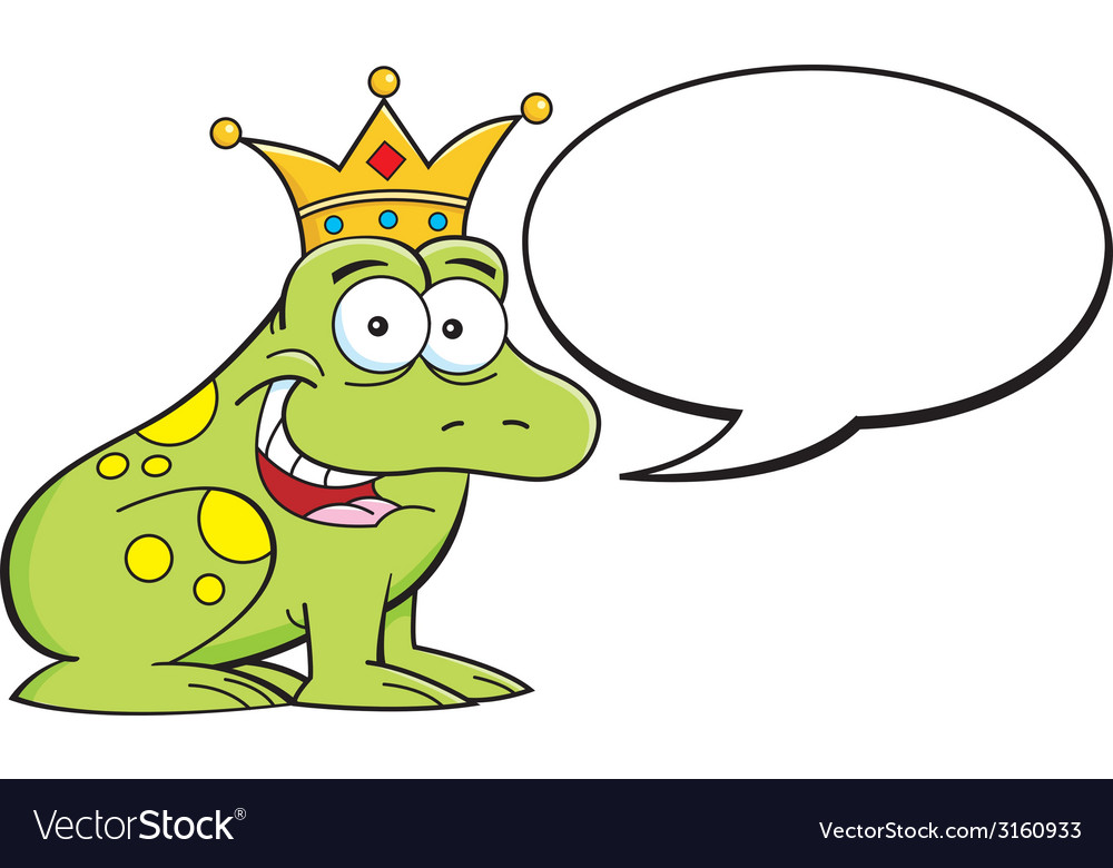 Cartoon frog with caption balloon vector | Price: 1 Credit (USD $1)