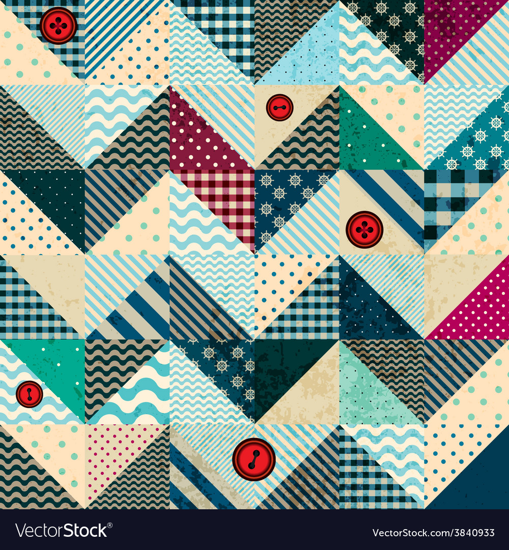 Chevron patchwork in nautical style with grunge vector | Price: 1 Credit (USD $1)