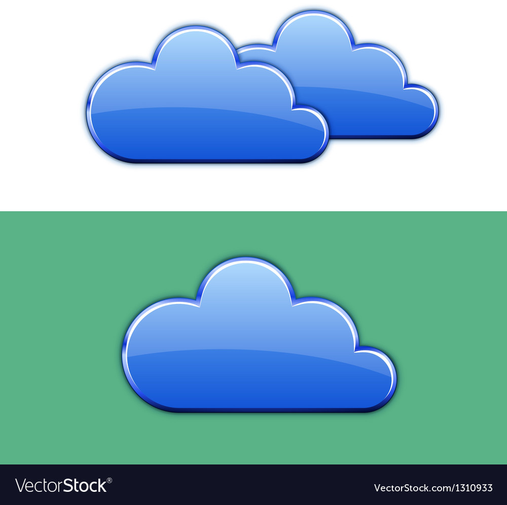 Glossy cloud icon vector | Price: 1 Credit (USD $1)