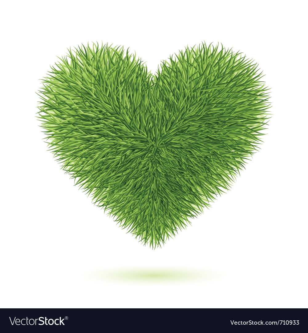 Grass heart symbol vector | Price: 3 Credit (USD $3)