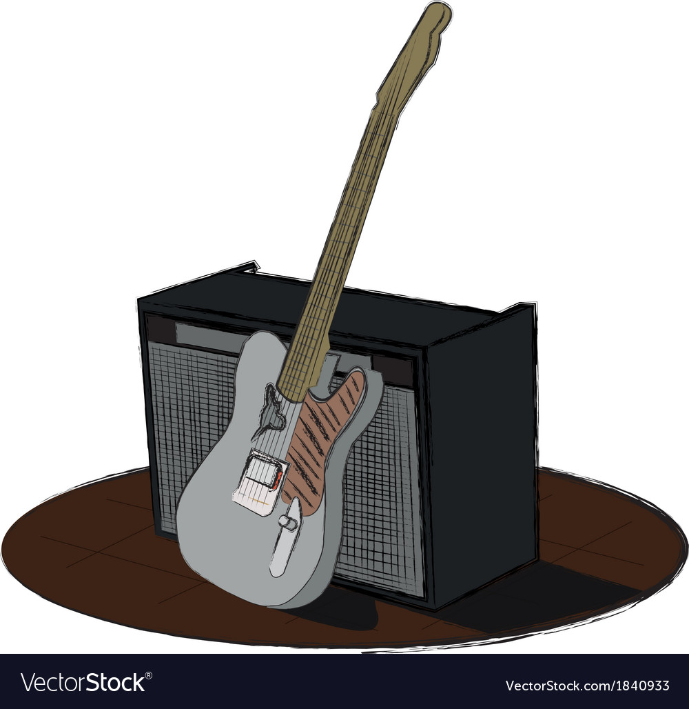 Guitar and amp vector | Price: 1 Credit (USD $1)