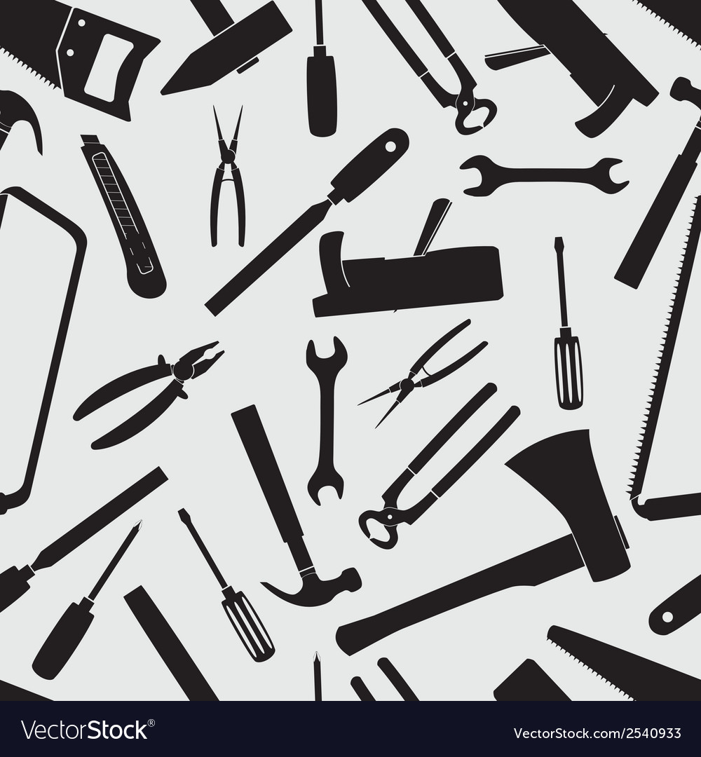 Hand tools icons pattern eps10 vector | Price: 1 Credit (USD $1)