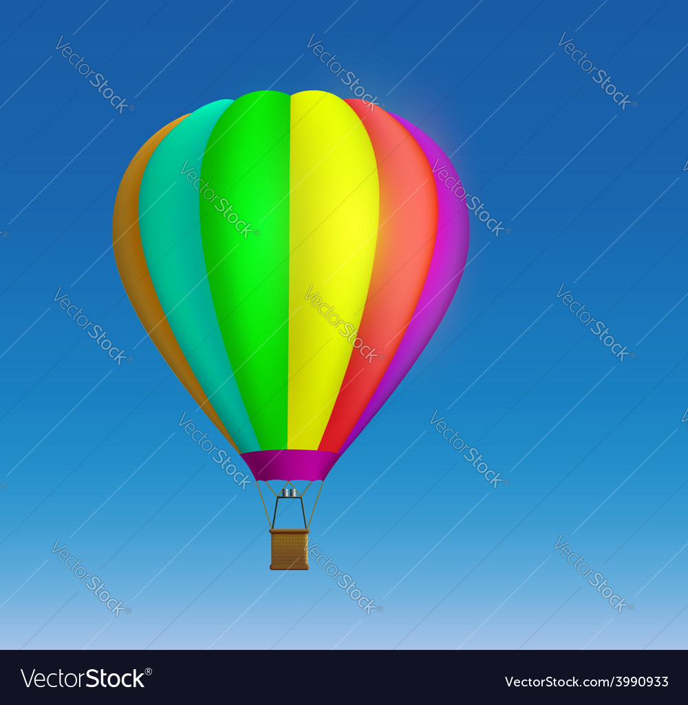 Hot air balloon on the sky background vector | Price: 1 Credit (USD $1)